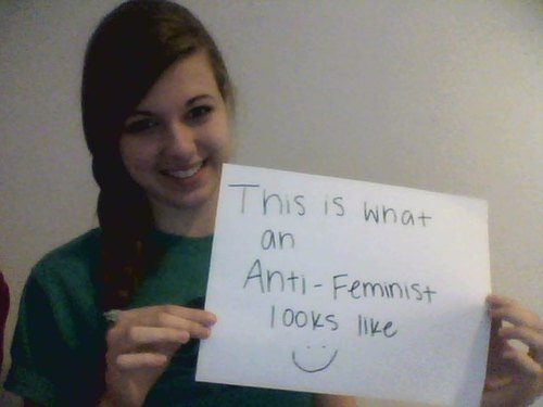 This is What An Anti - Feminist Looks Like