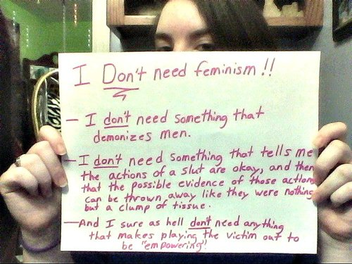 "Feminism Is Playing The Victim Out Of ""Empowering"""